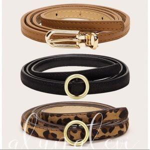 🔥🔥Leopard Print Skinny Belt